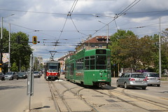 Internationale ontmoeting (Maurits van den Toorn) Tags: tram tramway strassenbahn villamos eléctrico tranvia sofia bulgaria bulgarien basel prag praha bvb tatra