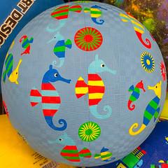 Sea Horse Ball (Timothy Valentine) Tags: squaredcircle large ball shopping 2019 0519 eastbridgewater massachusetts unitedstatesofamerica