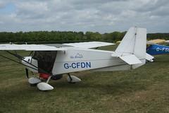 G-CFDN (IndiaEcho) Tags: gcfdn skyranger 912 eghp popham airport airfield light general civil aircraft aeroplane aviation basingstoke hampshire england canon eos 1000d microlight fly in