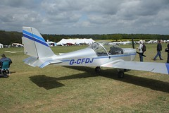 G-CFDJ (IndiaEcho) Tags: gcfdj ev97 eurostar eghp popham airport airfield light general civil aircraft aeroplane aviation basingstoke hampshire england canon eos 1000d microlight fly in