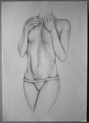 18 (dianasocola) Tags: art fineart pencildrawing pencil body grayscale blackandwhite figure drawing