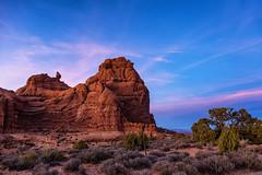 Windows, Arches National Park (aud.watson) Tags: america northamerica us usa utah moab archesnationalpark windows desert sandstone sand rock canyon canyons fin fins spire spires sunset dusk