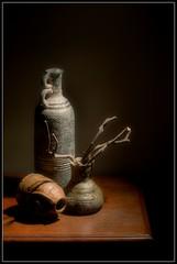 Still life clay vases colour (jrpsw) Tags: digitalphotography stilllifephotography clayvases nikond3200