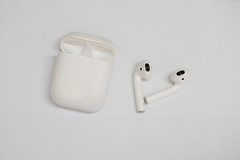 Wireless earphones isolated against white background (Rushay) Tags: earphones bluetooth wireless isolated music sound white portelizabeth southafrica