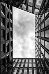 Europaallee 3 (LG_92) Tags: switzerland schweiz zürich architecture contemporary buildings 2019 may nikon dslr d3100 monochrome blackandwhite blackwhite bw facade sky cloudy