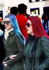 Portraits (D80_534794) (Itzick) Tags: denmark copenhagen candid color colorportrait couple twowomen streetphotography shades holdinghands d800 itzick