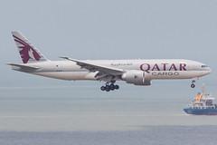 QATAR AIRWAYS CARGO B777-F A7-BFO 002 (A.S. Kevin N.V.M.M. Chung) Tags: aviation aircraft aeroplane airport airlines plane spotting macauinternationalairport mfm boeing cargo qatar b777 b777f landing