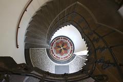 Above (Elbmaedchen) Tags: staircase architecture treppenhaus escaliers escaleras bodenmosaik geländer interior upanddownstairs drehwurm hamburg steps stufen architektur tiefrunter
