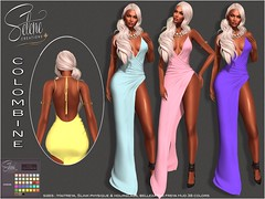 [Selene Creations] Colombine gown (Selene Morgan) Tags: gown dress formal colombine slink physique hourglass maitreya lara belleza isi freya