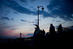 Evening (dtanist) Tags: nyc newyork newyorkcity new york city sony a7 7artisans 35mm brooklyn bath beach shore promenade belt parkway evening night silhouette verrazano verrazzano bridge sky
