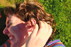 Beautiful and High 10 (Abbie Stoner) Tags: girl woman kite portrait redhead park outside