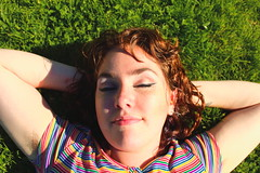 Beautiful and High 11 (Abbie Stoner) Tags: girl woman kite portrait redhead park outside