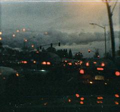 Rush Hour, Santa Clara, California (bior) Tags: lomography babydiana 110film colortiger sunnyvale driving traffic rushhour california dianababy