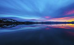 Lake Tahoe Sunrise (CraDorPhoto) Tags: canon5dsr landscape sunrise sky clouds colour reflection lake water calm nature outside outdoors california usa laketahoe
