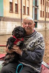 A Stranger (Jamarem) Tags: nottingham canal boatman man dog boat narrow