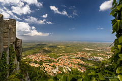 5th Smallest Country, San Marino Italy (Epaminondas M) Tags: san marino sanmarino italy view landscape color village sky clouds castle canon canon5d city hills houses over republic