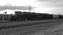 UP Big Boy #4014 With A Beautiful Sunset Black And White! (844steamtrain) Tags: 844steamtrain up union pacific big boy 4014 steam locomotive engine train 844 3985 sp 4449 flying scotsman lner mallard most popular views viewed trending relevant related flickr recommended photography photo best viral galore culture shared science technology history video videos top camera trump new news travel tourism adventure events sunset sky youtube facebook google america usa prr 5550 t1 trust sherman hill