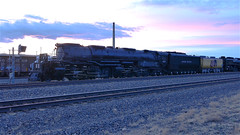 UP Big Boy #4014 With A Beautiful Sunset! (844steamtrain) Tags: 844steamtrain up union pacific big boy 4014 steam locomotive engine train 844 3985 sp 4449 flying scotsman lner mallard most popular views viewed trending relevant related flickr recommended photography photo best viral galore culture shared science technology history video videos top camera trump new news travel tourism adventure events sunset sky youtube facebook google america usa prr 5550 t1 trust sherman hill
