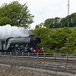Flying Scotsman coming into Burntisland
