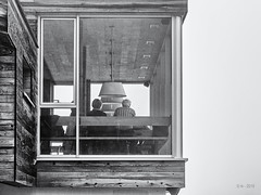 View is a Matter of Imagination... (Ody on the mount) Tags: anlässe architektur berge berghütte dolomiten em5ii fototour italien mzuiko6028 omd olympus südtirol urlaub architecture bw monochrome mountaincabin sw wolkensteiningröden bozen