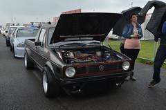 (Sam Tait) Tags: santa pod raceway england drag racing race track doorslammers vw volkswagen golf caddy mk1 pick up truck vr6 v6 turbo dragster