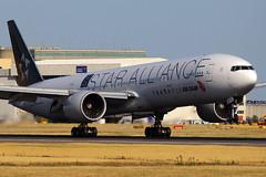 B-2032, London Heathrow, July 9th 2015 (Southsea_Matt) Tags: b2032 airchina staralliance boeing 7773l9er lhr egll londonheathrow unitedkingdom july 2015 summer canon 60d airport aircraft aviation airliner transport plane