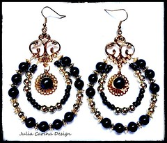 1 fekete gyöngys karika fulbevalo julia carina bizsu (JuliaCarina Design) Tags: black earrings julia carina design shop budapest jewelery accessories bizsu ékszer fekete fülbevaló füli goth rockabilly rock jeweller