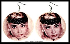 1 Audrey Hepburn fulbevalo julia carina bizsu shop budapest (JuliaCarina Design) Tags: black earrings julia carina design shop budapest jewelery accessories bizsu ékszer fekete fülbevaló füli goth rockabilly rock jeweller