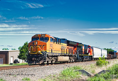 Southbound Freight (Kool Cats Photography over 12 Million Views) Tags: bnsf landscape locomotive locomotives oklahoma outdoors photography photo railroad sunlight sunny tracks track transportation