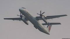 P9161606 TRUDEAU FOGGY MORN (hex1952) Tags: yul trudeau canada bombardier aircanada aircanadaexpress dash8 dhc8 dash