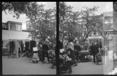 Fulham Tabletop Market, Saturdays (cheekymoji) Tags: demihalf canondemi london londonstreet halfframe homedeveloped blackandwhite ishootfilm fulham