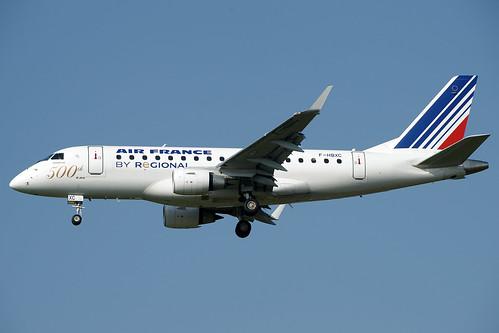 "F-HBXC (cn 17000263)""500"" Embraer ERJ-170-100ST 170ST Air France (Regional Airlines)"