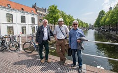 Hans and our Flickr friends Bill and Stony in Leiden (www.ownwayphotography.com) Tags: travel holidays hans holland leiden