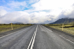 Þrengsli (erlingurt) Tags: iceland moss mist rp eos canon landscape road