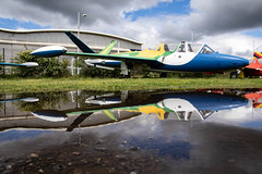 Reflections of a Fouga (nxgphotos) Tags: museum fougamagister brazilian air force toulouse