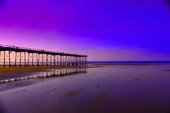 Saltburn Pier (Tori_Photography1103) Tags: northyorkshire saltburn beach pier sea blue purple sunny sunset photography canon 1300d filters edited victorian heritage beautiful nature