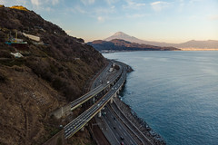 Shizuoka. (bgfotologue) Tags: photo mtfuji tripod fujiyama imaging winter 本州 photography 東海道 image tracks 冬 landscape 關東 薩埵峠 snow 風光 靜岡 雪 bellphoto 富士山 攝影 highway exposure tumblr 500px shizuoka 日本 bgphoto 風景 japan gitzo