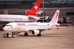 Tunisair Airbus A320-211; TS-IMH@ZRH;11.10.1997 (Aero Icarus) Tags: zrh lszh zürichkloten zürichflughafen zurichairport plane aircraft flugzeug