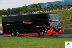 Mano Tur - 018 (RV Photos) Tags: turismo bus onibus doubledecker br116 rodoviapresidentedutra manotur busscar panorâmicodd