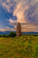 The ancient tower of Oinoi, Attica, greece. (Vagelis Pikoulas) Tags: ancient architecture archaelogical archaeology may spring 2019 landscape old ruin ruins oinoi greece attiki attica tokina 1628mm canon 6d sky sun sunset colour colors clouds