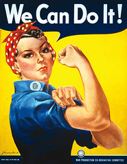 """Vintage Image of the """"We can do it!"""" Rosie the Riveter Poster by J Howard Miller (renato_layon) Tags: flexingmuscles flexing strength strong feministicon worldwarii wecandoit war wwiiwomen ww2women ww2 wwii womenandwar women woman jhowardmiller americanhistory americana rosietheriveter rosie"""