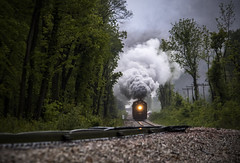 Made in China (Seven Tracks Photography) Tags: iais qj iais6988 chillicothe illinois iowainterstate railroad train steam steamengine locomotive passenger photography outdoor woods il