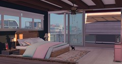 Luna Sea, Windlass Houseboat - Bedroom (Sivyaleah (Elora)) Tags: bellisseria second life sl virtual windlass linden home boathouse boat house