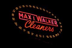 Max I. Walker Cleaners, Omaha, NE (Robby Virus) Tags: omaha nebraska ne max walker dry cleaners cleaning laundry wash washing sign signage neon