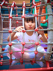 Playground Monkeys 01 (ArdieBeaPhotography) Tags: playground slide climbing tumble girl boy child preteen young kindergarten kids little pretty cute rope cords frame tunnel friends together tights rainbow dress skirt gauzy tshirt white purple plastic pout tongue lips play fun laugh pose tamronspaf2875mmf28xrdildasphericalif