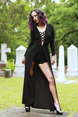 img_4421 (steevithak) Tags: cemetery modeling model blackdress purplehair blacklips darkbeauty graveyard greenwoodcemetery dallas texas tx