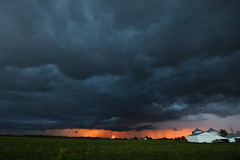 Severe storm at sunset (Jay Murdock) Tags: storm thunderstorm spring ohio indiana ohwx inwx