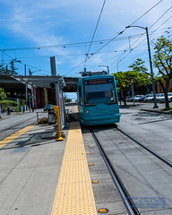 An Angular Look at the Seattle Streetcar Leaving the Station (AvgeekJoe) Tags: 1835mmf18dchsm d7500 dslr firsthillstreetcar kingcounty nikon nikond7500 seattle seattlestreetcar sigma1835mmf18 sigma1835mmf18dchsmart sigma1835mmf18dchsmartfornikon sigmaartlens usa washington washingtonstate masstransit publictransit publictransportation streetcar tram urbanrail