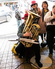 A Busker Performing at Pike Place Market (AvgeekJoe) Tags: 1835mmf18dchsm d7500 dslr nikon nikond7500 pikeplacemarket sigma1835mmf18 sigma1835mmf18dchsmart sigma1835mmf18dchsmartfornikon sigmaartlens busker