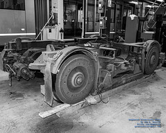 Streetcar Trolley Wheels (aka Bogie) in Black and White (AvgeekJoe) Tags: 1835mmf18dchsm bw blackwhite blackandwhite d7500 dslr kingcounty nikon nikond7500 seattle seattlestreetcar sigma1835mmf18 sigma1835mmf18dchsmart sigma1835mmf18dchsmartfornikon sigmaartlens usa washington washingtonstate masstransit publictransit publictransportation streetcar tram urbanrail